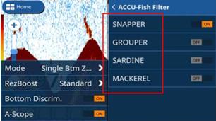 FUNZIONE ACCU-FISH - GP V3